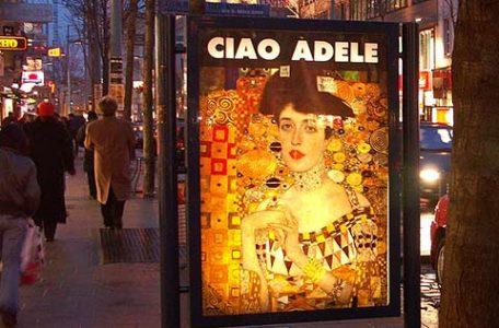 Austria - Vienna - Manifesto per il saluto al dipinto di Klimt Ritratto di Adele Bloch-Bauer.jpg