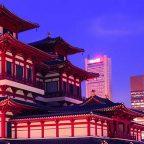 Singapore - il contrasto tra Chinatown e i grattacieli