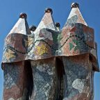 Spagna - Barcellona - I Comignoli casa batllo di Antoni Gaudi