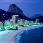 Brasile - la spiaggia di Capocabana di notte