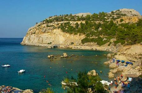 Grecia, la spiaggia di Antony Queen a Rodi