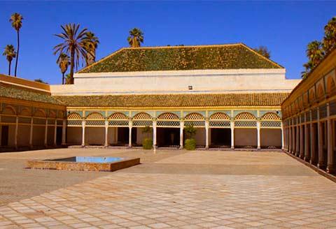 marrakech, la rosa del deserto - racconto di viaggio in marocco - Porta Di Sicurezza Con La Scena Del Deserto