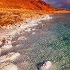 Israele - Le formazioni di sale nelle acque del Mar Morto