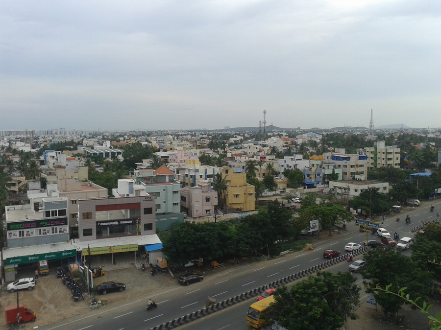 Chennai - skyline sullo sfondo