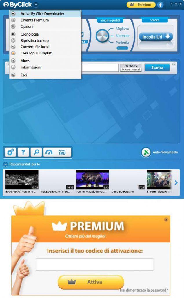 codice attivazione By Click Downloader