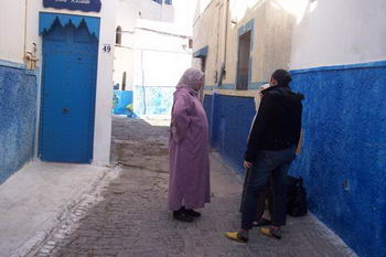 """Un vicolo della """" medina"""" di Rabat"""
