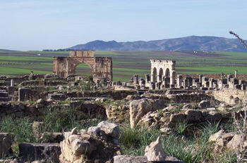 Una veduta dell' antica Volubilis