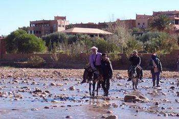 I pavidi sul groppone dell'asinello attraversano il fiume…..