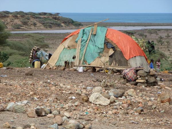 Capanna di nomadi Afar