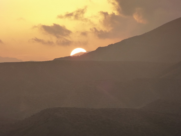tramonto sui monti Goda
