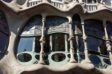 Casa Batllo di Gaudì a Barcellona