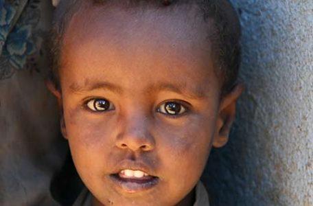 Gli occhi dei bambini dell' Etiopia