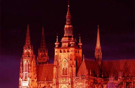 Repubblica Ceca - Praga - Il castello di notte