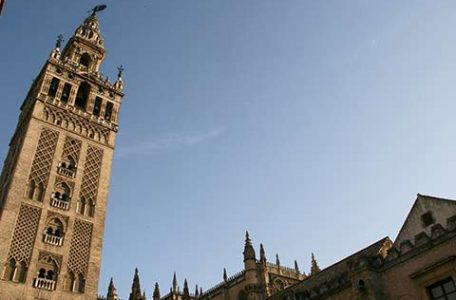 Spagna, Andalusia. La Giralda della cattedrale di Siviglia