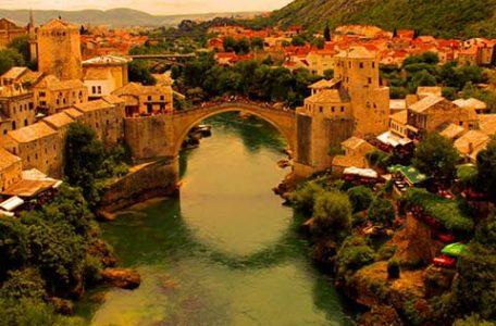 Bosnia Erzegovina - Il ponte di Mostar distrutto il 9 novembre 1993