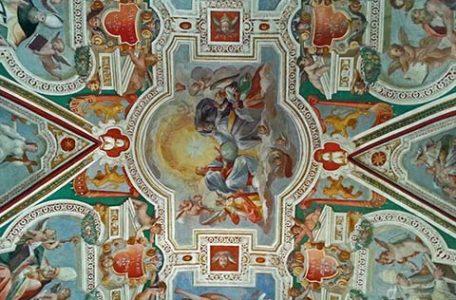 Roma - Gli affreschi della Cappella di San Lorenzo alla Scala Santa