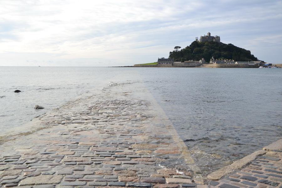 Innalzamento della marea a St Michael's Mount