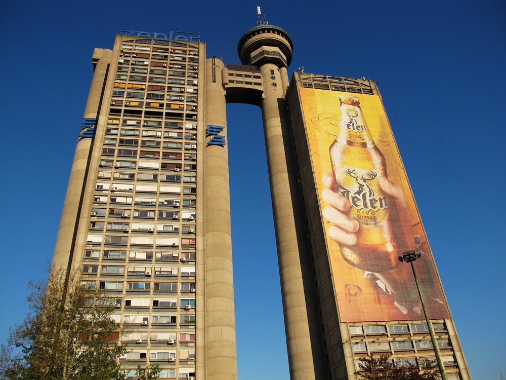Serbia, Belgrado - La torre Genex, progettata dall'architetto Mihajlo Mitrovic