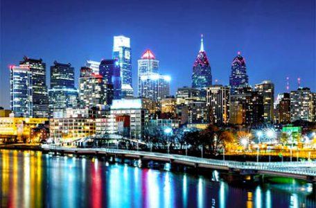 La Sky Line di Philadelphia - Stati Uniti