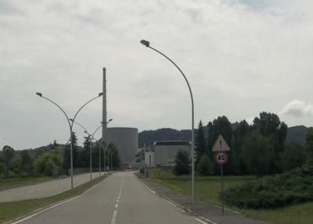 La centrale nucleare a Trino