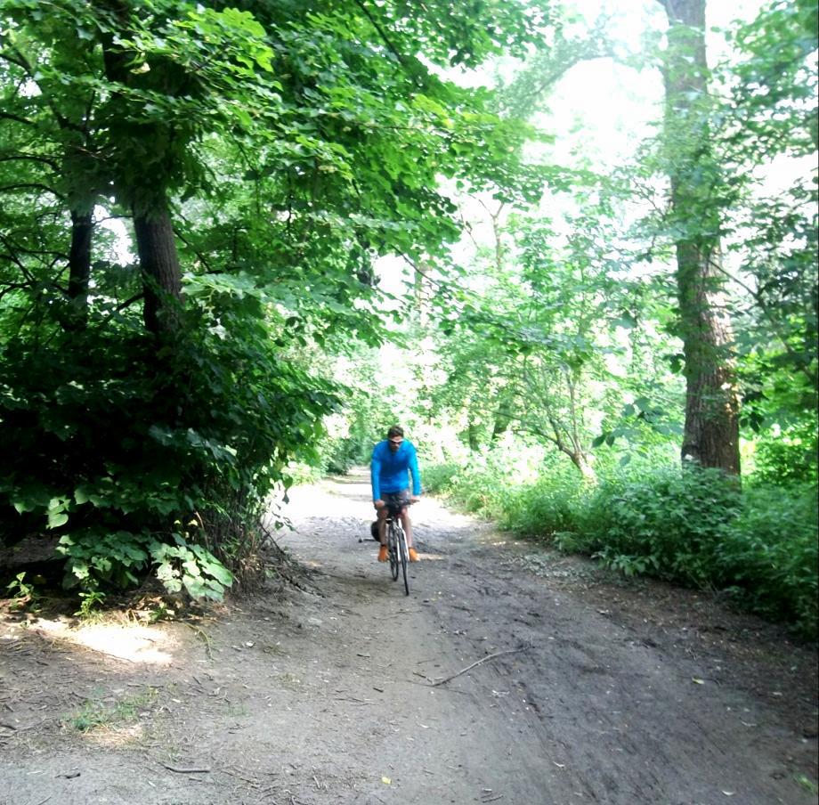 Ciclabile del Po uscendo da Torino